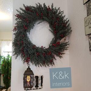 Christmas wreath  k&k interiors